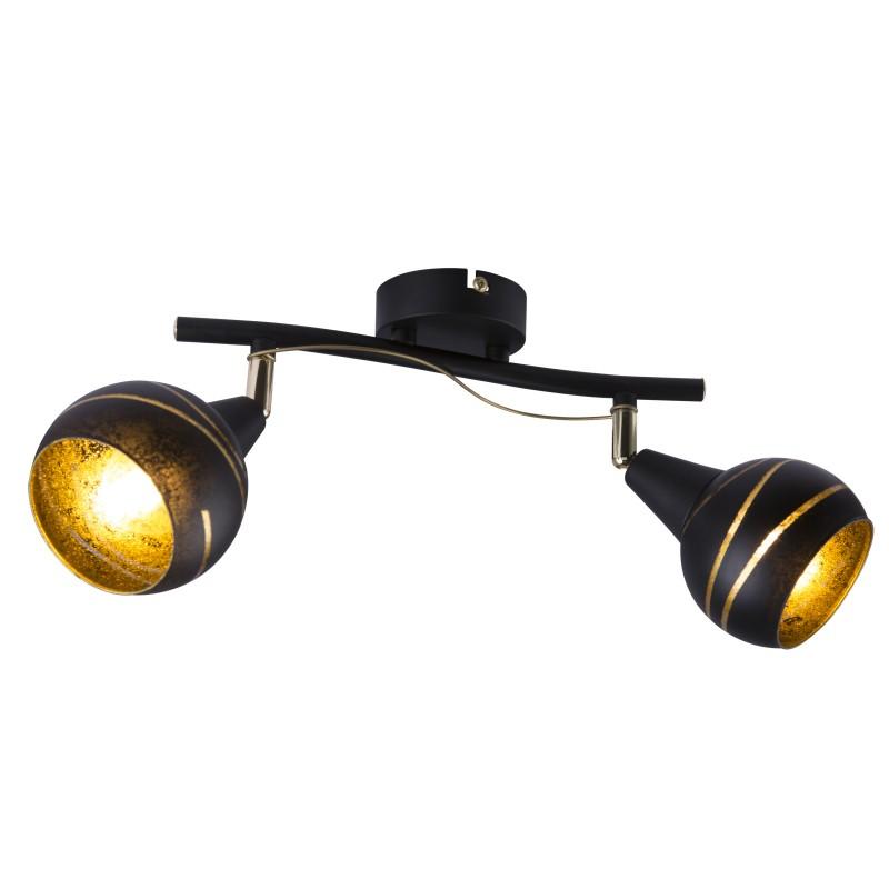 Plafoniera moderna LOMMY 2L 54005-2 GL, Spoturi - iluminat - cu 2 spoturi, Corpuri de iluminat, lustre, aplice, veioze, lampadare, plafoniere. Mobilier si decoratiuni, oglinzi, scaune, fotolii. Oferte speciale iluminat interior si exterior. Livram in toata tara.  a