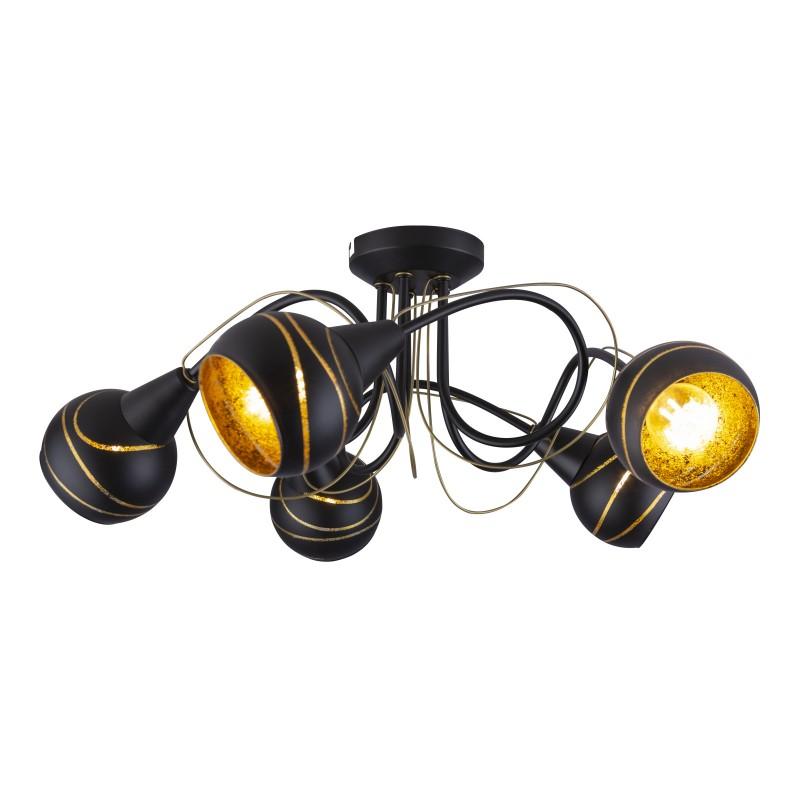 Lustra moderna aplicata LOMMY 5L 54005-5D GL, Lustre moderne aplicate, Corpuri de iluminat, lustre, aplice, veioze, lampadare, plafoniere. Mobilier si decoratiuni, oglinzi, scaune, fotolii. Oferte speciale iluminat interior si exterior. Livram in toata tara.  a