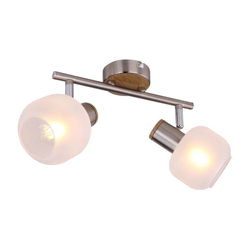 Plafoniera moderna cu 2 spoturi LOGGI 54302-2 GL, Spoturi - iluminat - cu 2 spoturi, Corpuri de iluminat, lustre, aplice, veioze, lampadare, plafoniere. Mobilier si decoratiuni, oglinzi, scaune, fotolii. Oferte speciale iluminat interior si exterior. Livram in toata tara.  a