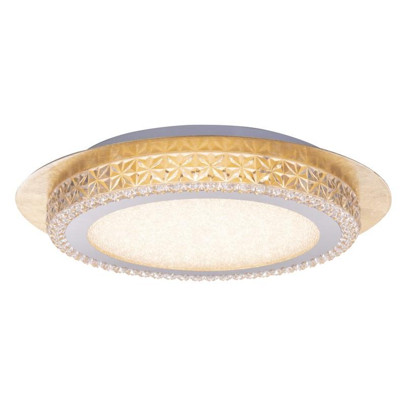 Plafoniera LED moderna Ø35cm HAKKA alb/auriu 41912-18G GL, Plafoniere LED, Spoturi LED, Corpuri de iluminat, lustre, aplice, veioze, lampadare, plafoniere. Mobilier si decoratiuni, oglinzi, scaune, fotolii. Oferte speciale iluminat interior si exterior. Livram in toata tara.  a