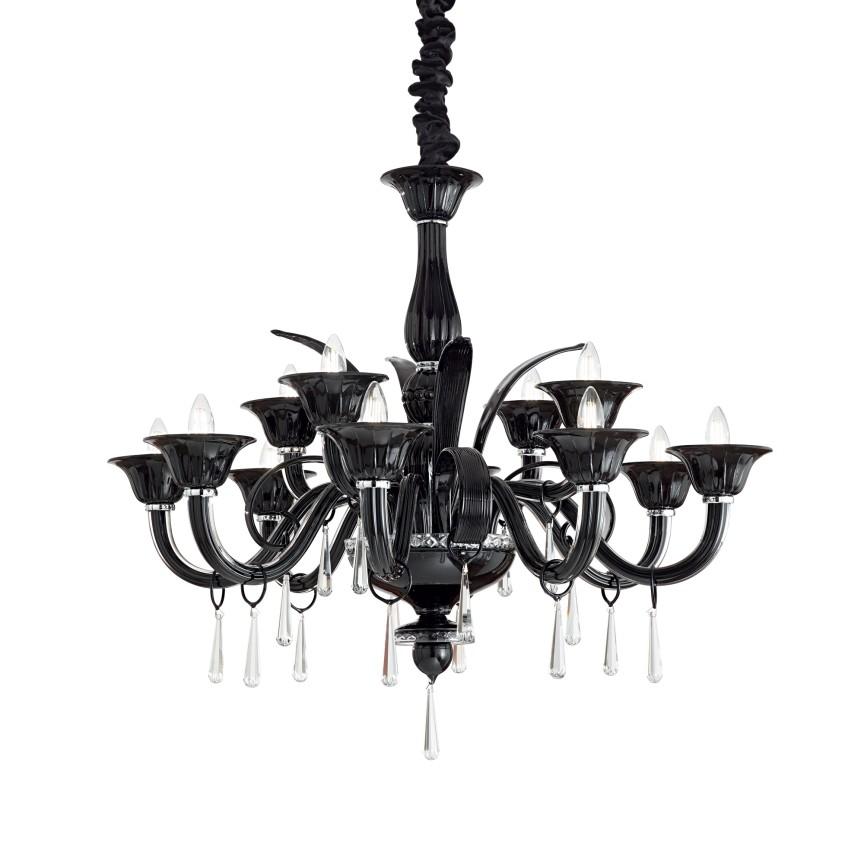 Candelabru design elegant RENOIR SP12 Black 045672, Candelabre, Lustre moderne, Corpuri de iluminat, lustre, aplice, veioze, lampadare, plafoniere. Mobilier si decoratiuni, oglinzi, scaune, fotolii. Oferte speciale iluminat interior si exterior. Livram in toata tara.  a