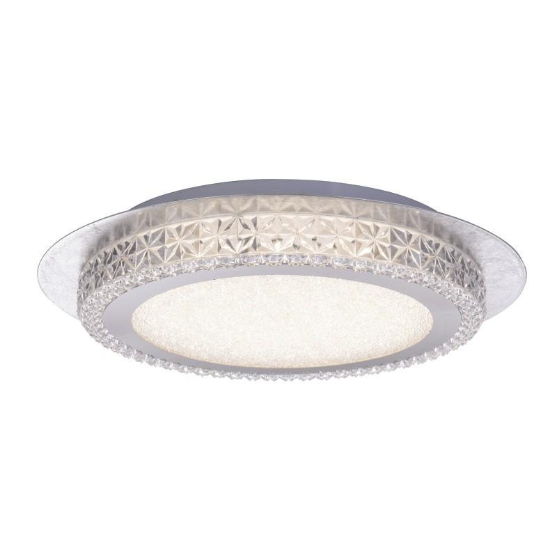 Plafoniera LED moderna Ø35cm HAKKA alb/argintiu 41912-18S GL, Plafoniere LED, Spoturi LED, Corpuri de iluminat, lustre, aplice, veioze, lampadare, plafoniere. Mobilier si decoratiuni, oglinzi, scaune, fotolii. Oferte speciale iluminat interior si exterior. Livram in toata tara.  a