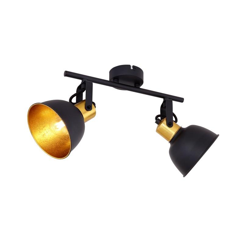 Plafoniera industrial style directionabila FILLO II 54655-2 GL, Spoturi - iluminat - cu 2 spoturi, Corpuri de iluminat, lustre, aplice, veioze, lampadare, plafoniere. Mobilier si decoratiuni, oglinzi, scaune, fotolii. Oferte speciale iluminat interior si exterior. Livram in toata tara.  a
