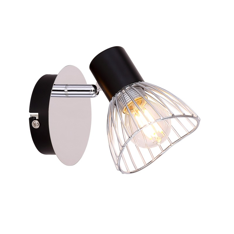 Aplica de perete modera directionabila FASSA 54815-1 GL, Spoturi - iluminat - cu 1 spot, Corpuri de iluminat, lustre, aplice, veioze, lampadare, plafoniere. Mobilier si decoratiuni, oglinzi, scaune, fotolii. Oferte speciale iluminat interior si exterior. Livram in toata tara.  a