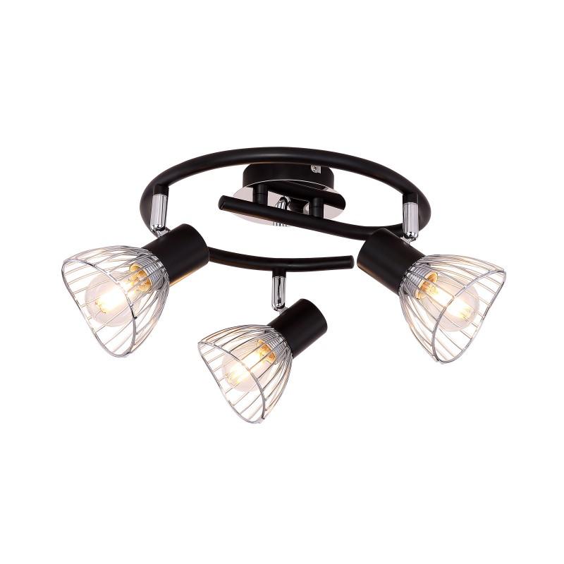 Plafoniera moderna directionabila FASSA 3L 54815-3 GL, Spoturi - iluminat - cu 3 spoturi, Corpuri de iluminat, lustre, aplice, veioze, lampadare, plafoniere. Mobilier si decoratiuni, oglinzi, scaune, fotolii. Oferte speciale iluminat interior si exterior. Livram in toata tara.  a