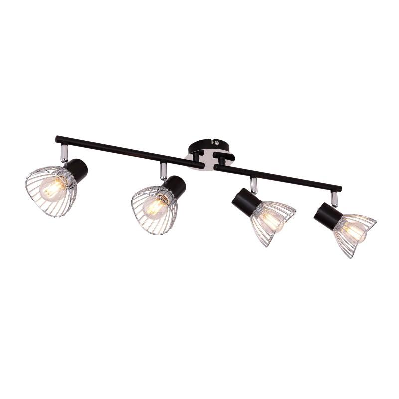 Plafoniera moderna directionabila FASSA 4L 54815-4 GL, Spoturi - iluminat - cu 4 spoturi, Corpuri de iluminat, lustre, aplice, veioze, lampadare, plafoniere. Mobilier si decoratiuni, oglinzi, scaune, fotolii. Oferte speciale iluminat interior si exterior. Livram in toata tara.  a