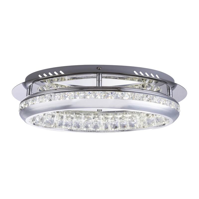 Lustra LED aplicata design modern HOMMI crom 67096-18 GL, Plafoniere LED, Spoturi LED, Corpuri de iluminat, lustre, aplice, veioze, lampadare, plafoniere. Mobilier si decoratiuni, oglinzi, scaune, fotolii. Oferte speciale iluminat interior si exterior. Livram in toata tara.  a