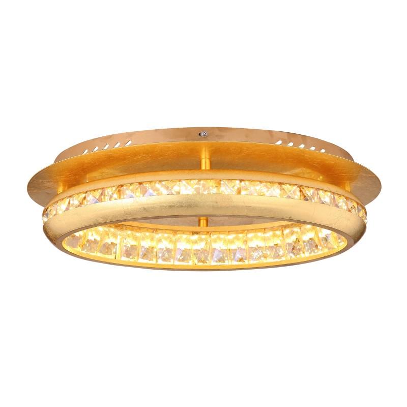 Lustra LED aplicata design modern HOMMI aurie 67096-18G GL, Plafoniere LED, Spoturi LED, Corpuri de iluminat, lustre, aplice, veioze, lampadare, plafoniere. Mobilier si decoratiuni, oglinzi, scaune, fotolii. Oferte speciale iluminat interior si exterior. Livram in toata tara.  a