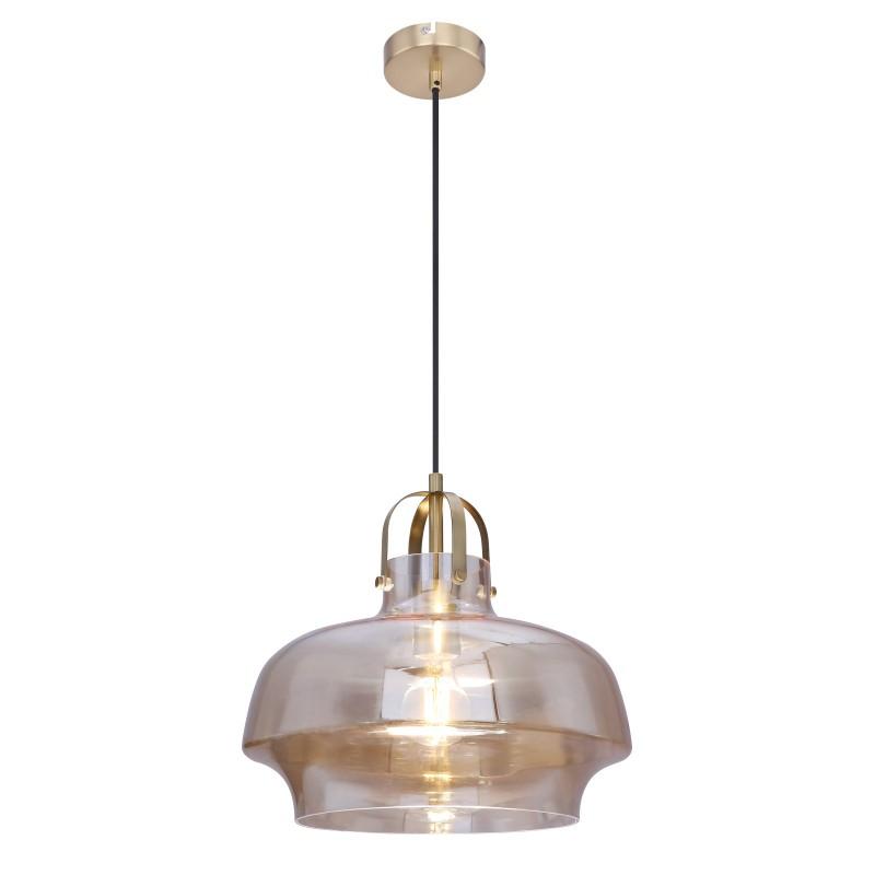 Lustra / Pendul modern Ø33cm AEGON chihlimbar 15312A GL, Pendule, Lustre suspendate, Corpuri de iluminat, lustre, aplice, veioze, lampadare, plafoniere. Mobilier si decoratiuni, oglinzi, scaune, fotolii. Oferte speciale iluminat interior si exterior. Livram in toata tara.  a