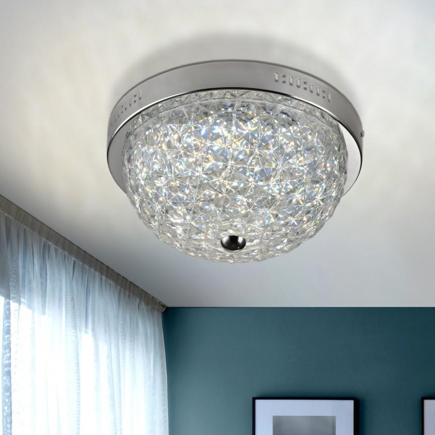 Plafoniera LED dimabila cu telecomanda Ø35cm Brilliance SV-461831, Lampi LED si Telecomanda, Corpuri de iluminat, lustre, aplice, veioze, lampadare, plafoniere. Mobilier si decoratiuni, oglinzi, scaune, fotolii. Oferte speciale iluminat interior si exterior. Livram in toata tara.  a