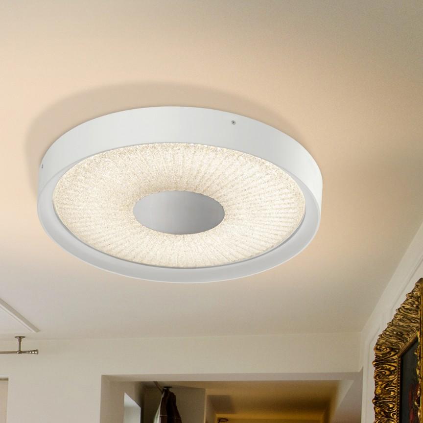 Plafoniera LED dimabila cu telecomanda Sunny II SV-590716, Plafoniere LED, Spoturi LED, Corpuri de iluminat, lustre, aplice, veioze, lampadare, plafoniere. Mobilier si decoratiuni, oglinzi, scaune, fotolii. Oferte speciale iluminat interior si exterior. Livram in toata tara.  a