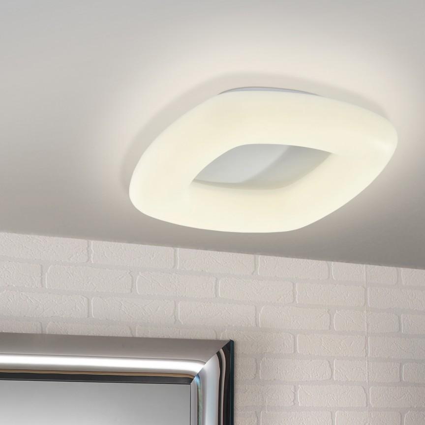 Plafoniera LED dimabila cu telecomanda Quasar 28W SV-673699, Plafoniere LED, Spoturi LED, Corpuri de iluminat, lustre, aplice, veioze, lampadare, plafoniere. Mobilier si decoratiuni, oglinzi, scaune, fotolii. Oferte speciale iluminat interior si exterior. Livram in toata tara.  a