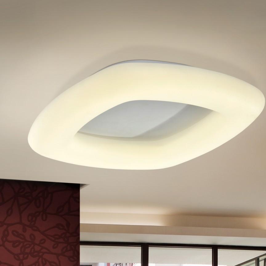 Plafoniera LED dimabila cu telecomanda Quasar 40W SV-673744, Plafoniere LED, Spoturi LED, Corpuri de iluminat, lustre, aplice, veioze, lampadare, plafoniere. Mobilier si decoratiuni, oglinzi, scaune, fotolii. Oferte speciale iluminat interior si exterior. Livram in toata tara.  a