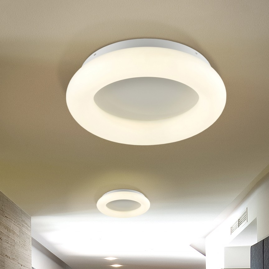 Plafoniera LED dimabila cu telecomanda Ø45 Quasar 28W SV-785194, Plafoniere LED, Spoturi LED, Corpuri de iluminat, lustre, aplice, veioze, lampadare, plafoniere. Mobilier si decoratiuni, oglinzi, scaune, fotolii. Oferte speciale iluminat interior si exterior. Livram in toata tara.  a
