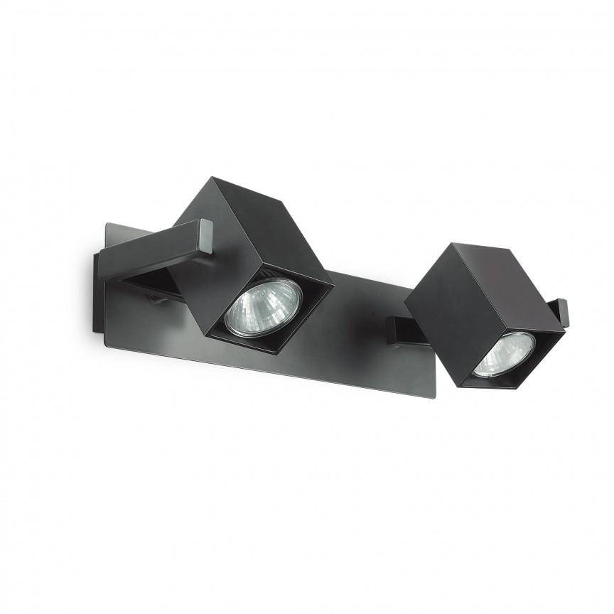 Aplica design modern cu 2 spoturi directionabile MOUSE AP2 negru 156705, Spoturi - iluminat - cu 2 spoturi, Corpuri de iluminat, lustre, aplice, veioze, lampadare, plafoniere. Mobilier si decoratiuni, oglinzi, scaune, fotolii. Oferte speciale iluminat interior si exterior. Livram in toata tara.  a