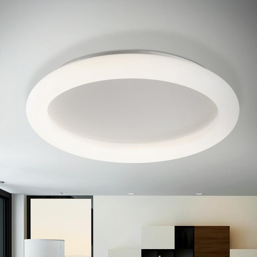 Lustra LED dimabila cu telecomanda Ø80 Quasar 57W SV-785263, Plafoniere LED, Spoturi LED, Corpuri de iluminat, lustre, aplice, veioze, lampadare, plafoniere. Mobilier si decoratiuni, oglinzi, scaune, fotolii. Oferte speciale iluminat interior si exterior. Livram in toata tara.  a