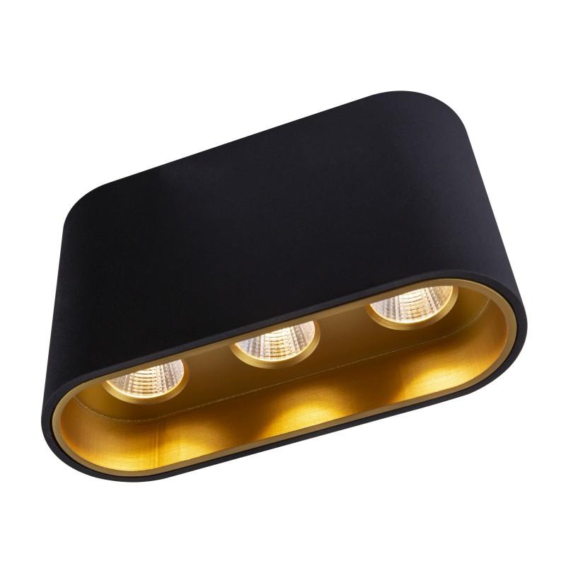 Plafoniera LED tip spot aplicat TUGHA negru/auriu 55007-7B GL, Spoturi aplicate - tavan / perete, Corpuri de iluminat, lustre, aplice, veioze, lampadare, plafoniere. Mobilier si decoratiuni, oglinzi, scaune, fotolii. Oferte speciale iluminat interior si exterior. Livram in toata tara.  a