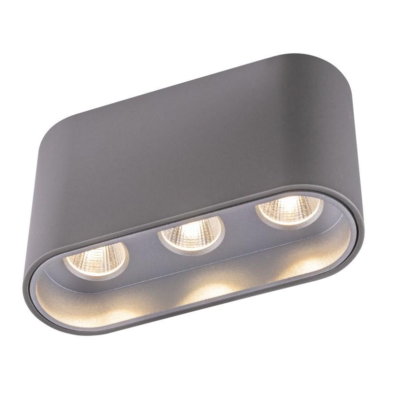 Plafoniera LED tip spot aplicat TUGHA gri/argintiu 55007-7G GL, Spoturi aplicate - tavan / perete, Corpuri de iluminat, lustre, aplice, veioze, lampadare, plafoniere. Mobilier si decoratiuni, oglinzi, scaune, fotolii. Oferte speciale iluminat interior si exterior. Livram in toata tara.  a