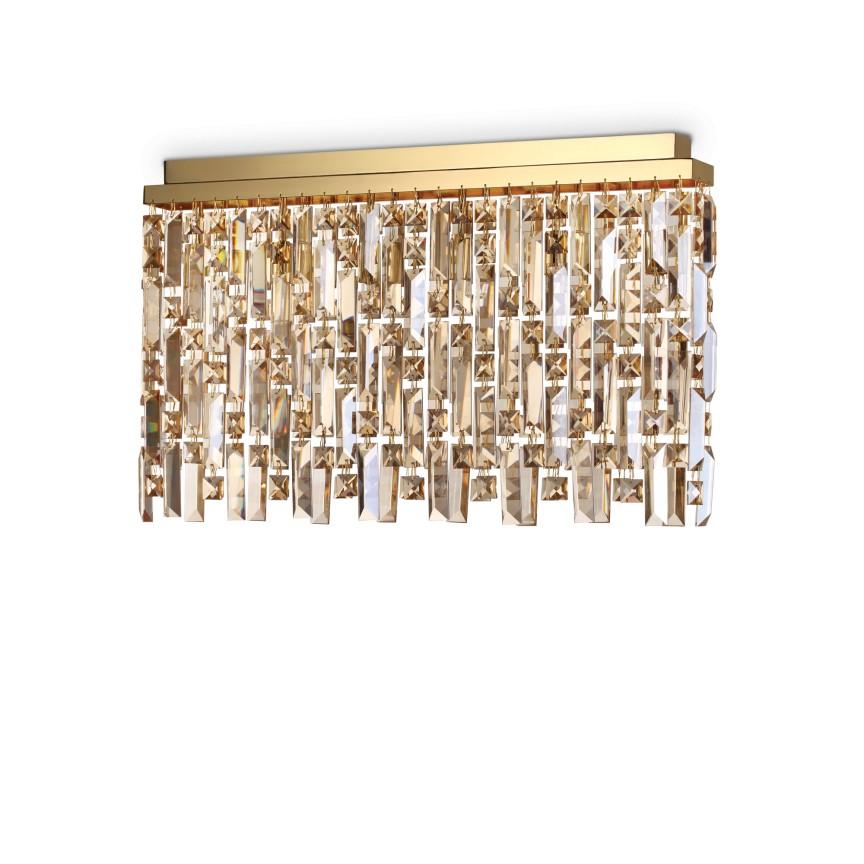 Plafoniera eleganta design clasic ELISIR PL6 OTTONE 200095, Lustre aplicate, Plafoniere clasice, Corpuri de iluminat, lustre, aplice, veioze, lampadare, plafoniere. Mobilier si decoratiuni, oglinzi, scaune, fotolii. Oferte speciale iluminat interior si exterior. Livram in toata tara.  a