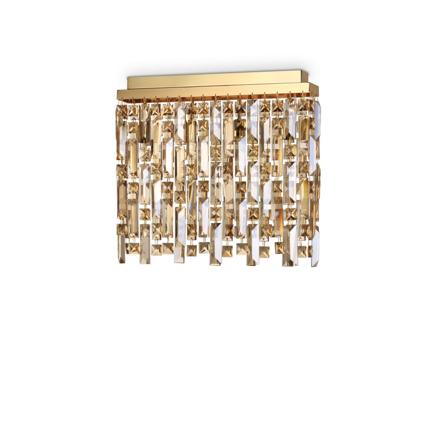 Plafoniera eleganta design clasic ELISIR PL4 OTTONE 200088, Lustre aplicate, Plafoniere clasice, Corpuri de iluminat, lustre, aplice, veioze, lampadare, plafoniere. Mobilier si decoratiuni, oglinzi, scaune, fotolii. Oferte speciale iluminat interior si exterior. Livram in toata tara.  a