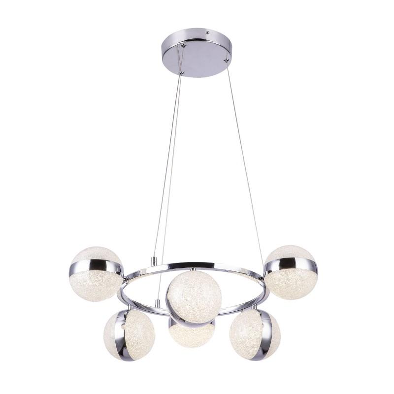 Lustra LED suspendata design elegant TOBIAS 6L 56007-6H GL, Lustre LED, Pendule LED, Corpuri de iluminat, lustre, aplice, veioze, lampadare, plafoniere. Mobilier si decoratiuni, oglinzi, scaune, fotolii. Oferte speciale iluminat interior si exterior. Livram in toata tara.  a