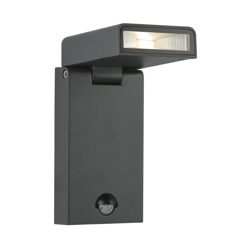 Aplica LED de exterior cu senzor, directionabila IP44 SPARROW 34310S GL, Iluminat cu senzor de miscare, Corpuri de iluminat, lustre, aplice, veioze, lampadare, plafoniere. Mobilier si decoratiuni, oglinzi, scaune, fotolii. Oferte speciale iluminat interior si exterior. Livram in toata tara.  a