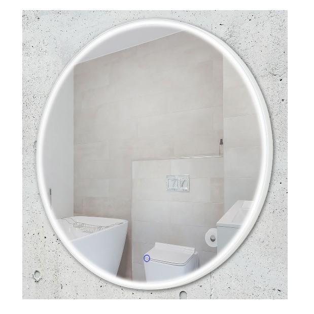 Oglinda baie cu iluminat LED IP44 Ø80cm Lustro W0252 MX, Aplice pentru baie, oglinda, tablou, Corpuri de iluminat, lustre, aplice, veioze, lampadare, plafoniere. Mobilier si decoratiuni, oglinzi, scaune, fotolii. Oferte speciale iluminat interior si exterior. Livram in toata tara.  a