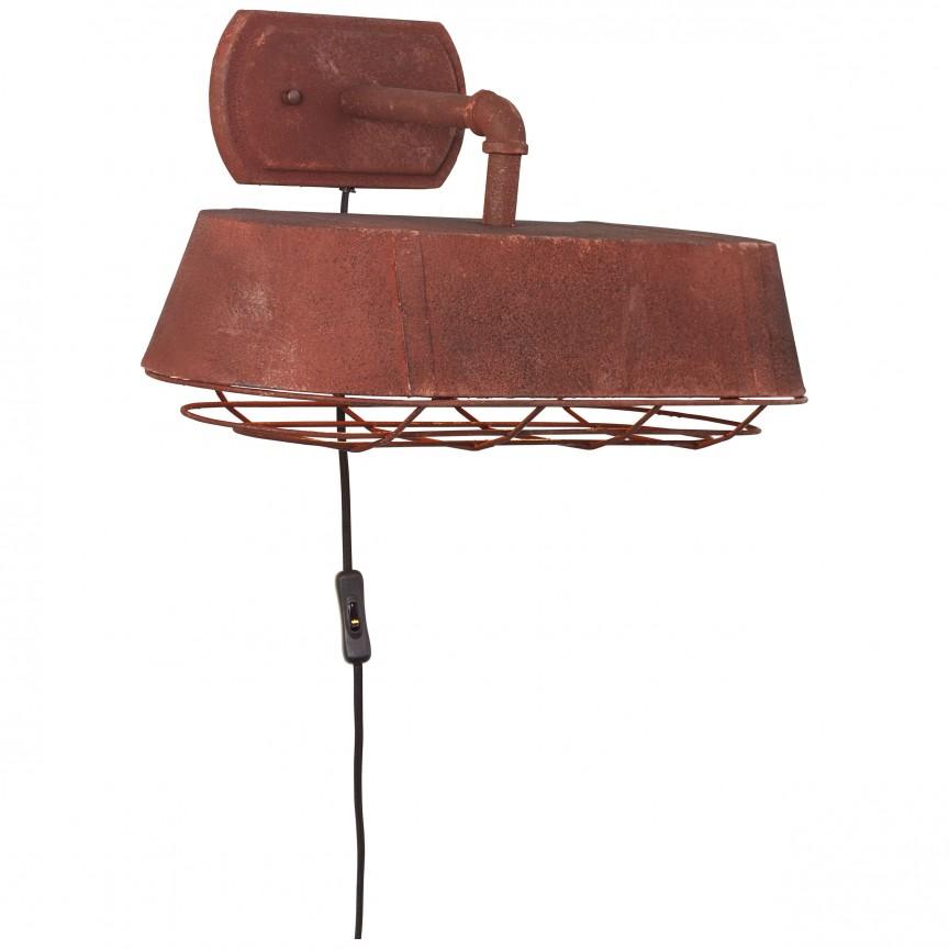 Aplica de perete industrial style Factory ruginie 93417/55 BL, NOU ! Lustre VINTAGE, RETRO, INDUSTRIA Style,  a