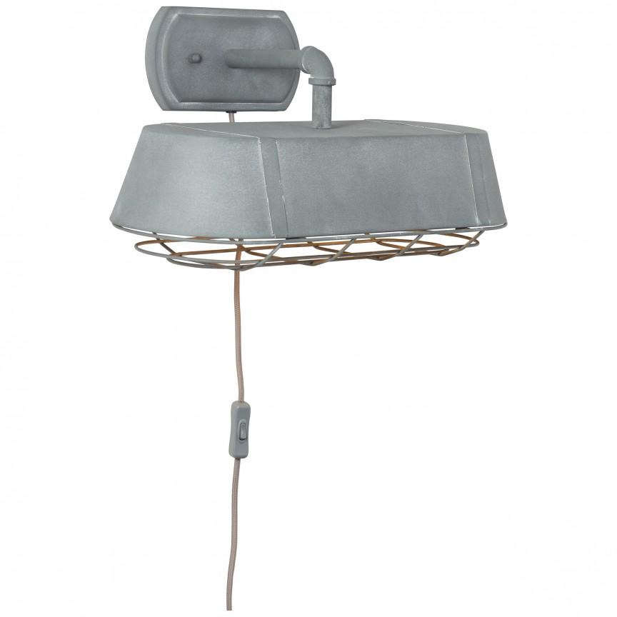Aplica de perete industrial style Factory gri 93417/70 BL, NOU ! Lustre VINTAGE, RETRO, INDUSTRIA Style,  a