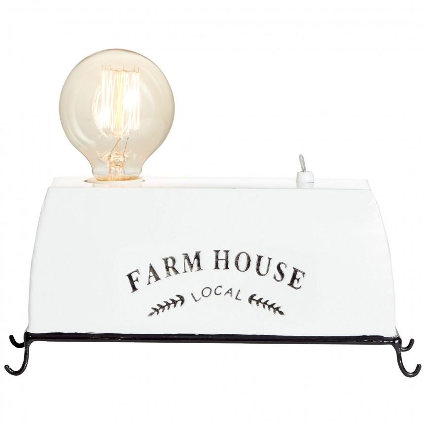 Veioza / Lampa decorativa design vintage Farm Life 1L 93784/05 BL, Veioze, Corpuri de iluminat, lustre, aplice, veioze, lampadare, plafoniere. Mobilier si decoratiuni, oglinzi, scaune, fotolii. Oferte speciale iluminat interior si exterior. Livram in toata tara.  a