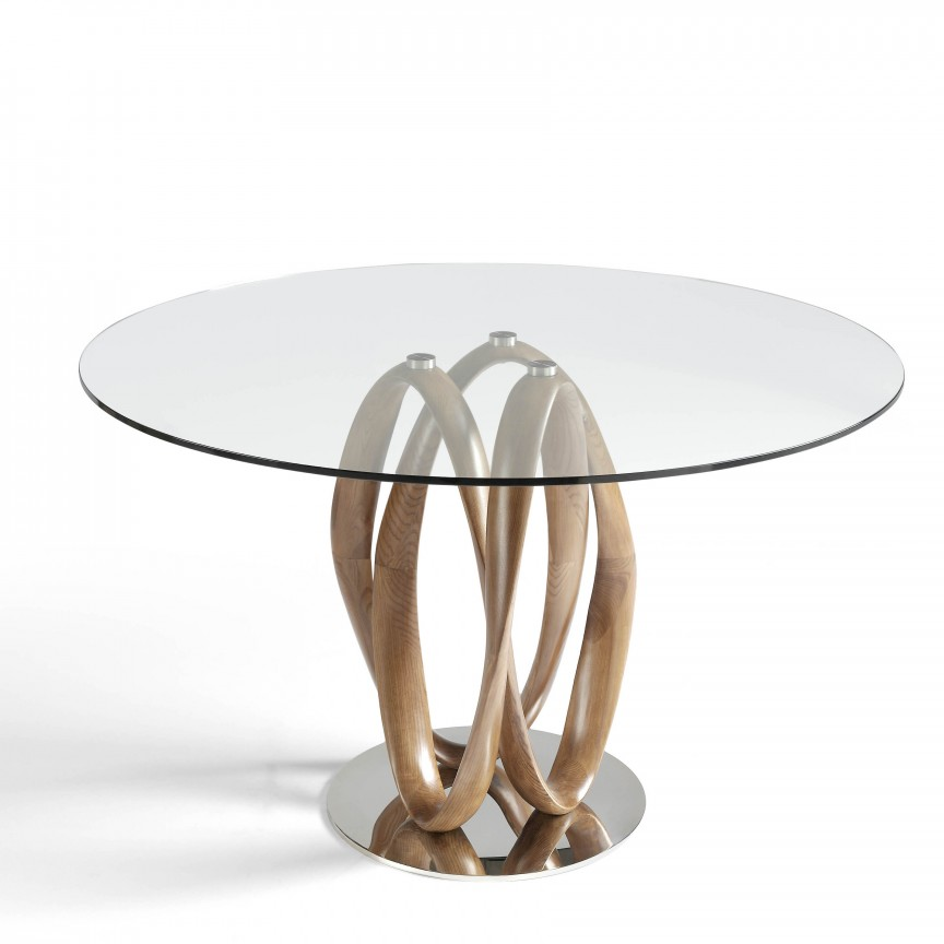 Masa dining design deosebit Ben, 130cm AC-DT801-130, Mese dining, Corpuri de iluminat, lustre, aplice, veioze, lampadare, plafoniere. Mobilier si decoratiuni, oglinzi, scaune, fotolii. Oferte speciale iluminat interior si exterior. Livram in toata tara.  a