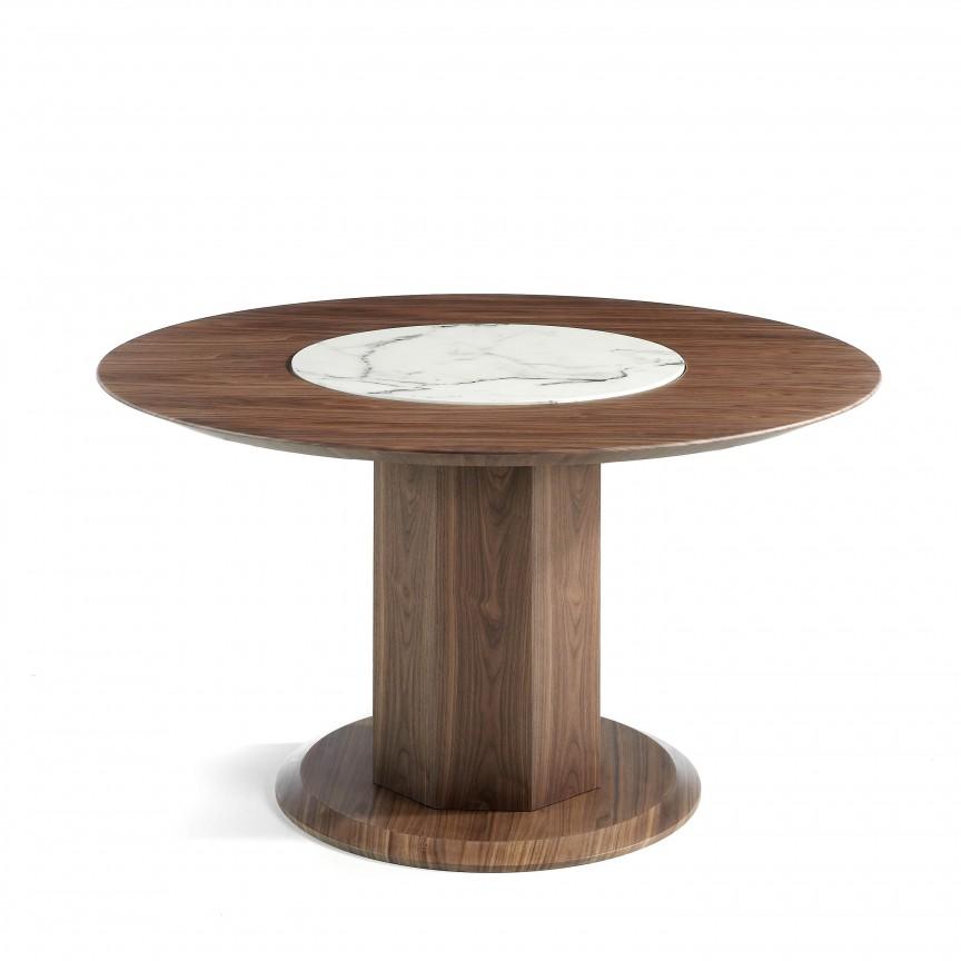 Masa dining cu blat central rotativ Lazy Susan, 120cm AC-CP1806-D, PROMOTII, Corpuri de iluminat, lustre, aplice, veioze, lampadare, plafoniere. Mobilier si decoratiuni, oglinzi, scaune, fotolii. Oferte speciale iluminat interior si exterior. Livram in toata tara.  a