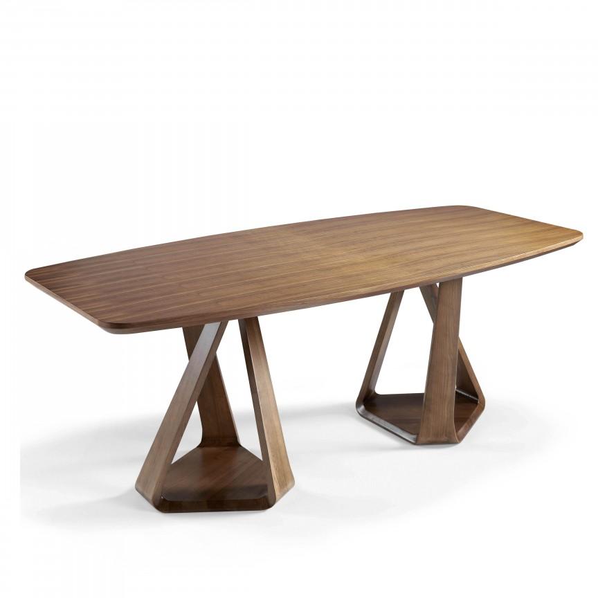 Masa eleganta din lemn Nogal, 220x100cm AC-DT803-GRAN, Mese dining, Corpuri de iluminat, lustre, aplice, veioze, lampadare, plafoniere. Mobilier si decoratiuni, oglinzi, scaune, fotolii. Oferte speciale iluminat interior si exterior. Livram in toata tara.  a