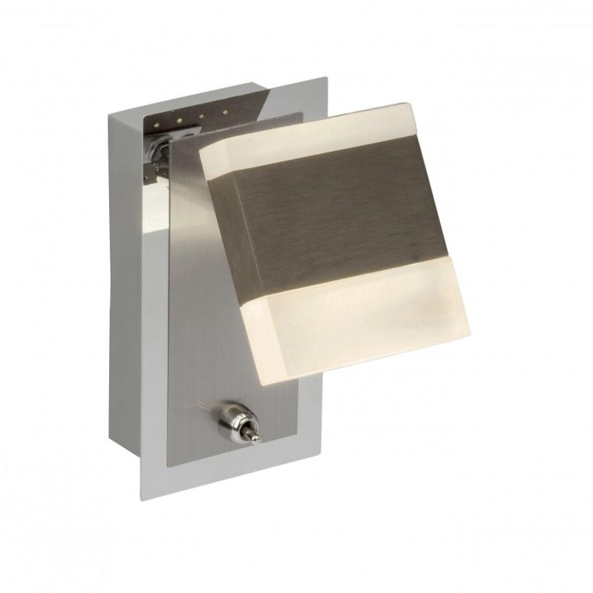 Aplica perete cu 1 spot LED directionabil Target G18810/77 BL, Spoturi - iluminat - cu 1 spot, Corpuri de iluminat, lustre, aplice, veioze, lampadare, plafoniere. Mobilier si decoratiuni, oglinzi, scaune, fotolii. Oferte speciale iluminat interior si exterior. Livram in toata tara.  a