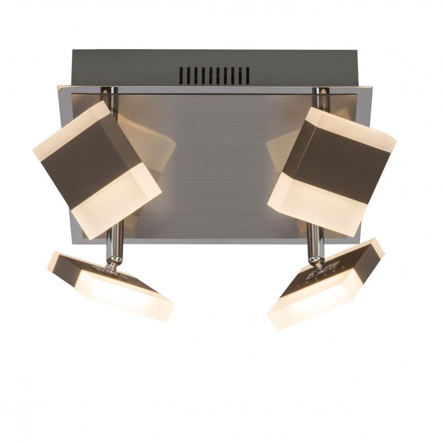 Plafoniera cu 4 spoturi LED directionabile Target G18835/77 BL, Spoturi - iluminat - cu 4 spoturi, Corpuri de iluminat, lustre, aplice, veioze, lampadare, plafoniere. Mobilier si decoratiuni, oglinzi, scaune, fotolii. Oferte speciale iluminat interior si exterior. Livram in toata tara.  a