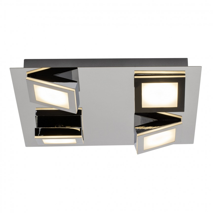 Plafoniera moderna cu 4 spoturi LED Winner G69635/15 BL, Spoturi - iluminat - cu 4 spoturi, Corpuri de iluminat, lustre, aplice, veioze, lampadare, plafoniere. Mobilier si decoratiuni, oglinzi, scaune, fotolii. Oferte speciale iluminat interior si exterior. Livram in toata tara.  a