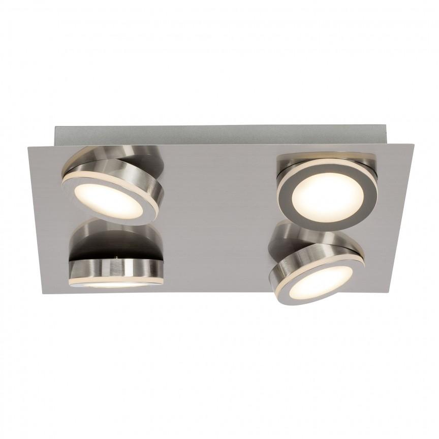 Plafoniera moderna cu 4 spoturi LED Champion G69335/13 BL, Spoturi - iluminat - cu 4 spoturi, Corpuri de iluminat, lustre, aplice, veioze, lampadare, plafoniere. Mobilier si decoratiuni, oglinzi, scaune, fotolii. Oferte speciale iluminat interior si exterior. Livram in toata tara.  a