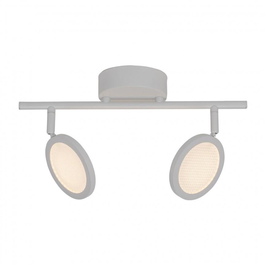 Plafoniera cu 2 spoturi LED directionabile Xave G71513/05 BL, Spoturi - iluminat - cu 2 spoturi, Corpuri de iluminat, lustre, aplice, veioze, lampadare, plafoniere. Mobilier si decoratiuni, oglinzi, scaune, fotolii. Oferte speciale iluminat interior si exterior. Livram in toata tara.  a