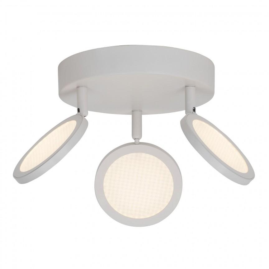 Plafoniera cu 3 spoturi LED directionabile Xave G71534/05 BL, Spoturi - iluminat - cu 3 spoturi, Corpuri de iluminat, lustre, aplice, veioze, lampadare, plafoniere. Mobilier si decoratiuni, oglinzi, scaune, fotolii. Oferte speciale iluminat interior si exterior. Livram in toata tara.  a