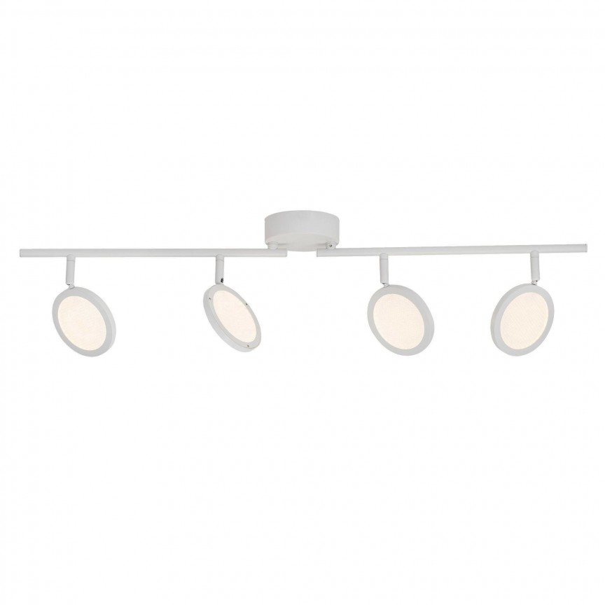 Plafoniera cu 4 spoturi LED directionabile Xave G71532/05 BL, Spoturi - iluminat - cu 4 spoturi, Corpuri de iluminat, lustre, aplice, veioze, lampadare, plafoniere. Mobilier si decoratiuni, oglinzi, scaune, fotolii. Oferte speciale iluminat interior si exterior. Livram in toata tara.  a