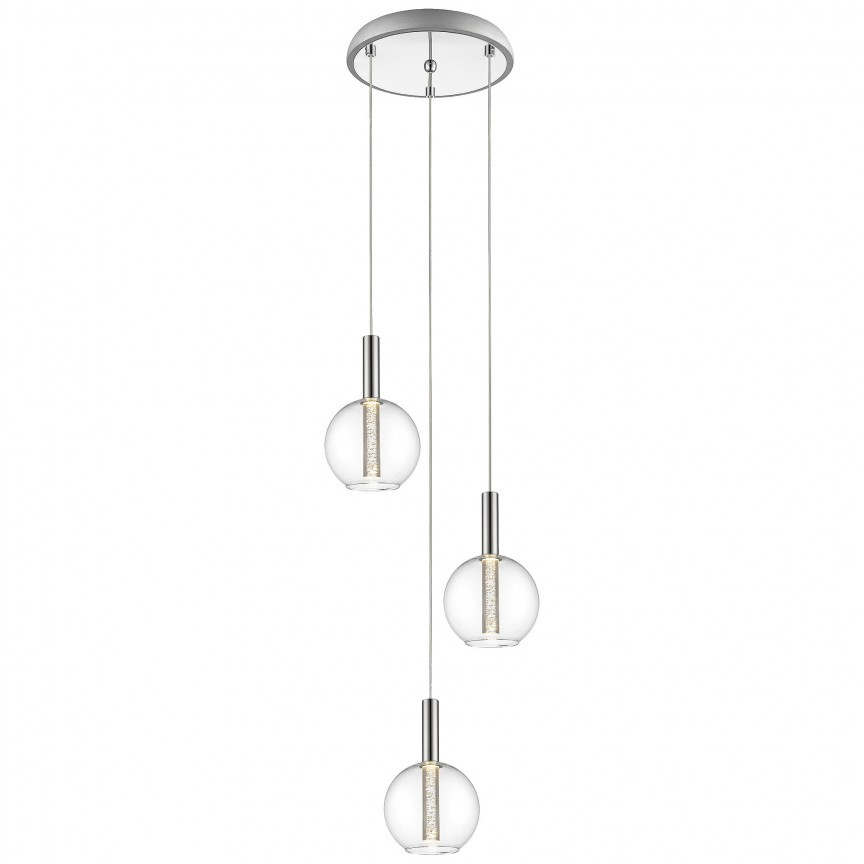 Lustra LED design modern Elegant 3L G93526/15 BL, Lustre LED, Pendule LED, Corpuri de iluminat, lustre, aplice, veioze, lampadare, plafoniere. Mobilier si decoratiuni, oglinzi, scaune, fotolii. Oferte speciale iluminat interior si exterior. Livram in toata tara.  a