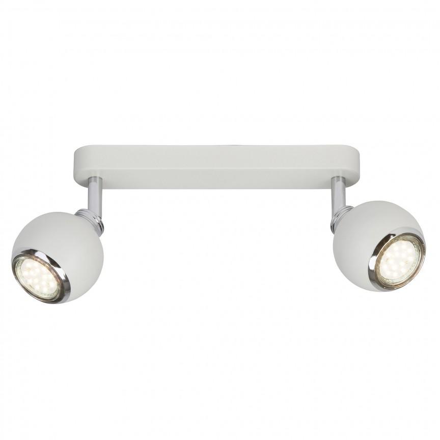 Plafoniera LED cu 2 spoturi directionabile Ina alba G77729/05 BL, Spoturi - iluminat - cu 2 spoturi, Corpuri de iluminat, lustre, aplice, veioze, lampadare, plafoniere. Mobilier si decoratiuni, oglinzi, scaune, fotolii. Oferte speciale iluminat interior si exterior. Livram in toata tara.  a