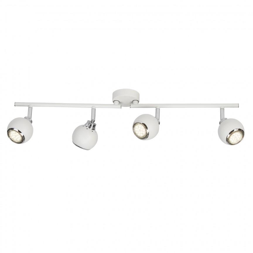 Plafoniera LED cu 4 spoturi directionabile Ina alba G77732/05 BL, Spoturi - iluminat - cu 4 spoturi, Corpuri de iluminat, lustre, aplice, veioze, lampadare, plafoniere. Mobilier si decoratiuni, oglinzi, scaune, fotolii. Oferte speciale iluminat interior si exterior. Livram in toata tara.  a