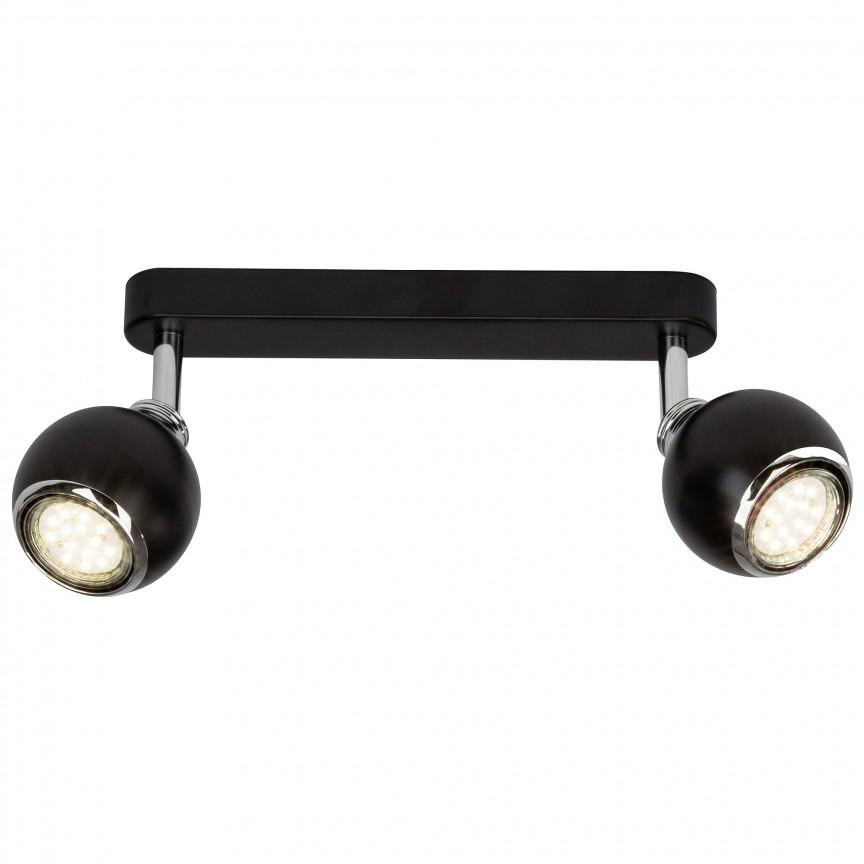 Plafoniera LED cu 2 spoturi directionabile Ina neagra G77729/06 BL, Spoturi - iluminat - cu 2 spoturi, Corpuri de iluminat, lustre, aplice, veioze, lampadare, plafoniere. Mobilier si decoratiuni, oglinzi, scaune, fotolii. Oferte speciale iluminat interior si exterior. Livram in toata tara.  a