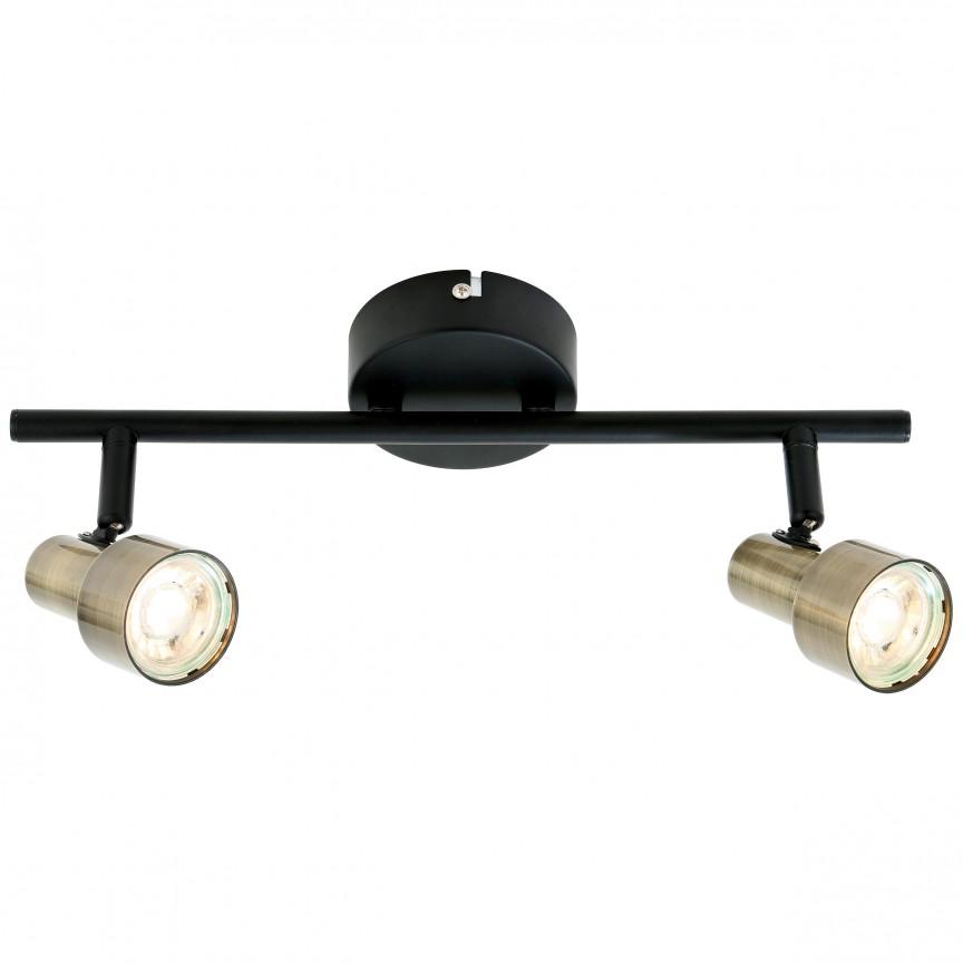 Plafoniera LED moderna directionabila Croyden 2L G79413/12 BL, Spoturi - iluminat - cu 2 spoturi, Corpuri de iluminat, lustre, aplice, veioze, lampadare, plafoniere. Mobilier si decoratiuni, oglinzi, scaune, fotolii. Oferte speciale iluminat interior si exterior. Livram in toata tara.  a
