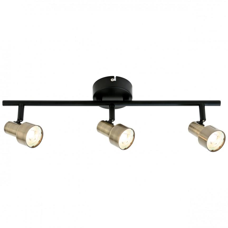 Plafoniera LED moderna directionabila Croyden 3L G79416/12 BL, Spoturi - iluminat - cu 3 spoturi, Corpuri de iluminat, lustre, aplice, veioze, lampadare, plafoniere. Mobilier si decoratiuni, oglinzi, scaune, fotolii. Oferte speciale iluminat interior si exterior. Livram in toata tara.  a