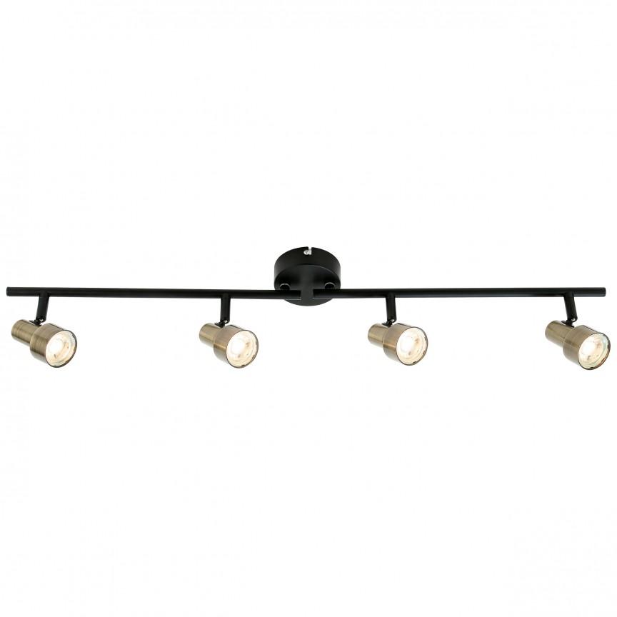 Plafoniera LED moderna directionabila Croyden 4L G96923/12 BL, Spoturi - iluminat - cu 4 spoturi, Corpuri de iluminat, lustre, aplice, veioze, lampadare, plafoniere. Mobilier si decoratiuni, oglinzi, scaune, fotolii. Oferte speciale iluminat interior si exterior. Livram in toata tara.  a