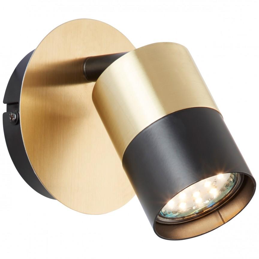 Aplica perete cu spot directionabil MARIBEL 81010/78 BL, Spoturi - iluminat - cu 1 spot, Corpuri de iluminat, lustre, aplice, veioze, lampadare, plafoniere. Mobilier si decoratiuni, oglinzi, scaune, fotolii. Oferte speciale iluminat interior si exterior. Livram in toata tara.  a