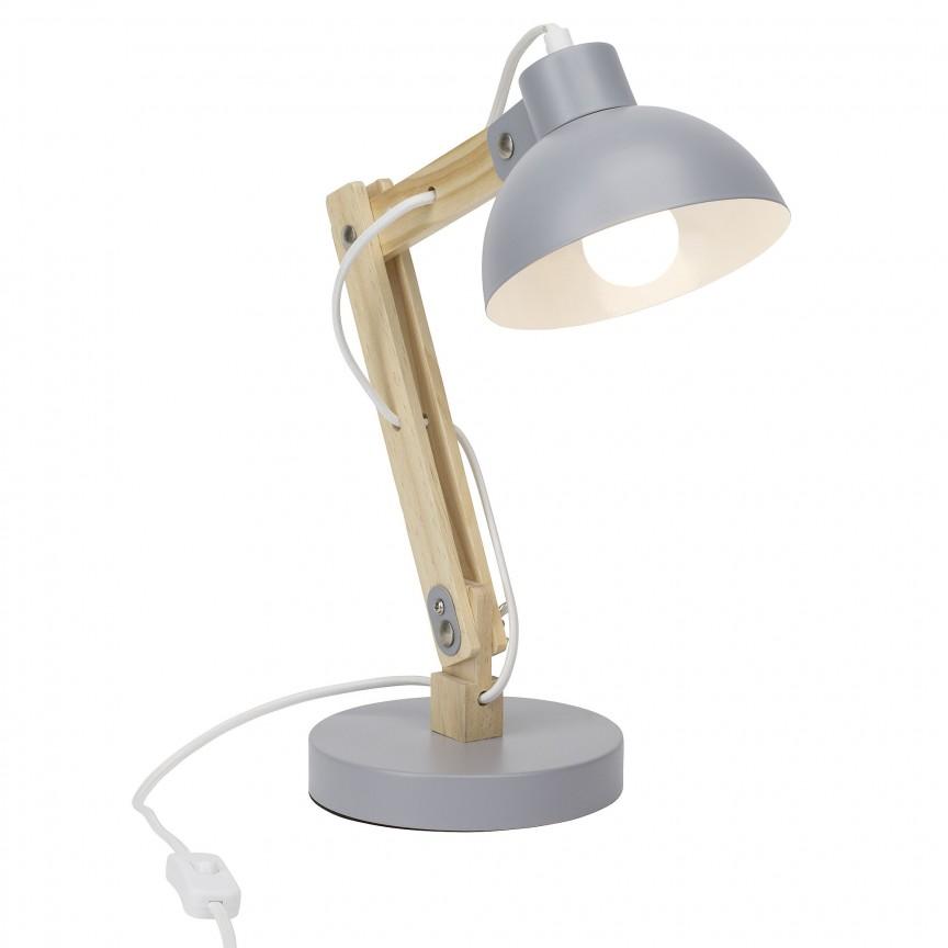 Veioza / Lampa de birou reglabila Moda gri 98979/22 BL, Veioze de Birou moderne, Corpuri de iluminat, lustre, aplice, veioze, lampadare, plafoniere. Mobilier si decoratiuni, oglinzi, scaune, fotolii. Oferte speciale iluminat interior si exterior. Livram in toata tara.  a