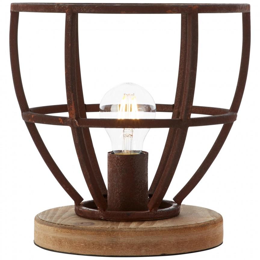 Veioza / Lampa de masa stil industrial Matrix ruginie 99007/55 BL, Veioze, Corpuri de iluminat, lustre, aplice, veioze, lampadare, plafoniere. Mobilier si decoratiuni, oglinzi, scaune, fotolii. Oferte speciale iluminat interior si exterior. Livram in toata tara.  a